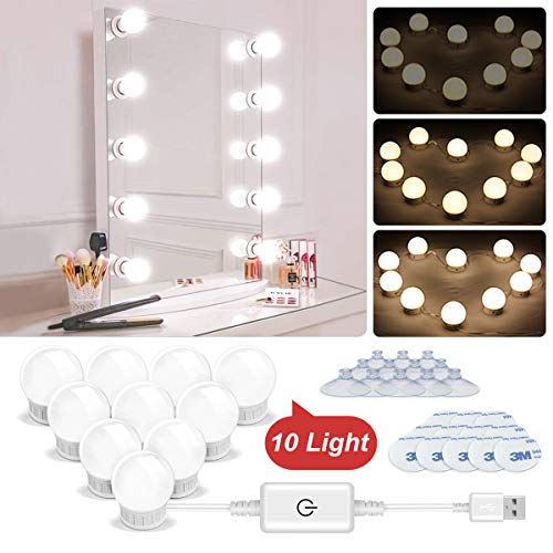 N NEWKOIN Makeup Light, Trucco luci USB Vanity Mirror Lights Luce a specchio LED con 10 Dimmable...