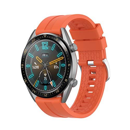 Yayuu 22mm Cinturino Huawei Watch GT 2 46mm/Huawei GT Sport/Active/Elegant/Classic Braccialetto Cinturini Silicone Banda di Ricambio Polsino per Samsung Galaxy Watch 46mm/Gear S3 Frontier/Classic