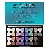 Maquillaje Revolution - Paleta de sombra de ojos Mermaids Forever con 32 tonos distintos, 20g