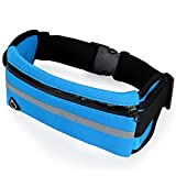 Aroncent Marsupio Running Sportivo Sport Tasca Cintura Waist packs per smartphone pacchetto della vita Impermeabile Super elastica Multiuso Blu