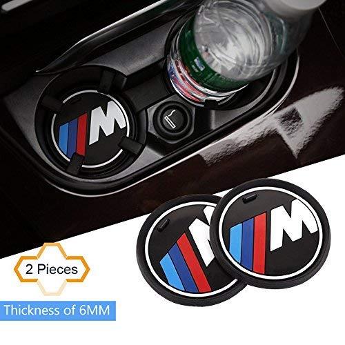 S-WEKA 2PCS m Linea Auto Accessori Interni Antiscivolo Cup Mat per BMW 1 3 5 7 Series F30 F35 320LI...