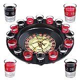 Trink-Roulette - Der Klassiker unter den TrinkspielenHersteller: Schramm® OnlinehandelOriginalware von S/O®Original EAN:42604147604711 Roulette-Rad - 16 Schnapsgläser u. 1 KugelGläser aus GlasGeschenkverpackungMaße Durchmesser: ca. 31 cmMaße Höhe: c...