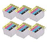 PerfectPrint Compatible Tinta Cartucho Reemplazo Para Epson WF-2010W WF-2510WF WF-2520NF WF-2530WF WF-2540WF WF-2630WF WF-2650DWF WF-2660DWF WF-2750DWF WF-2760dwf 16XL (B/C/M/Y, 24-Pack)