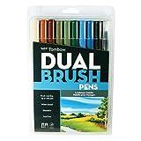 Tombow Dual Brush Markers 10/Pkg-Landscape