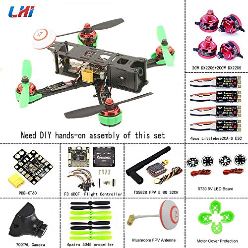 LHI 220mm Full Carbon Frame + DX2205 2300KV Brushless Motor + Regolatore Littlebee 20A + PRO SP...