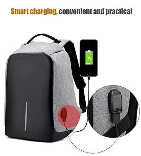 Waterproof Computer Laptop Backpack Anti-thief Outdoor Travel Backpacks  with USB Charging Port High School Bag Adult Campus Student Bags Business  Slim Tech ... 46b4c27030