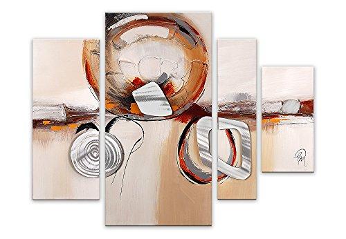 Arte dal Mondo AS347QX2 Dipinti su Telaio Estetico, Astratto, Acrilico, Multicolore, 80 x 109 x 3.5...