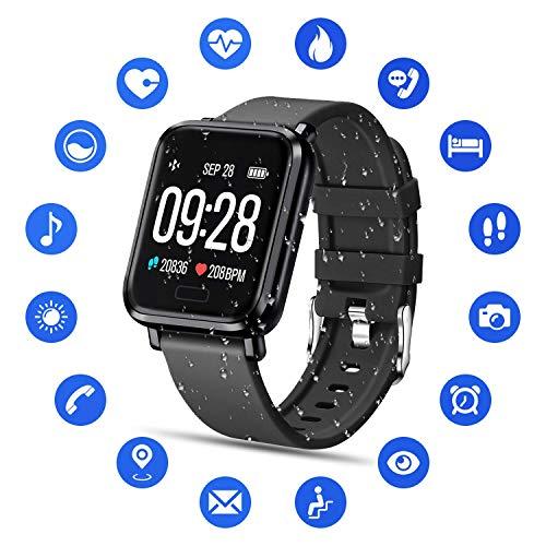 Tipmant Smartwatch Orologio Uomo Donna Fitness Tracker Bracciale Cardiofrequenzimetro da Polso...
