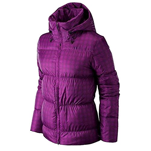 f231a189d768 Womens Nike Down Padded Jacket Pink Winter Coat Warm Hooded Zip Up ...