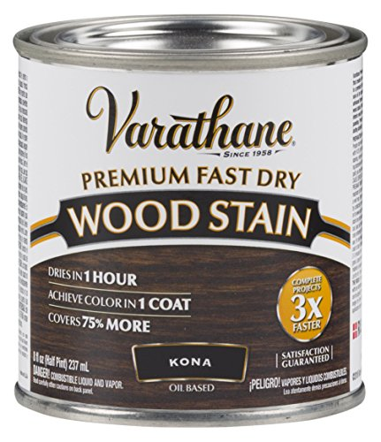 Rust-Oleum Synthetic Varathane Fast Dry Stain for Interior Wood Surface (236 ml, Kona Oil-Based)