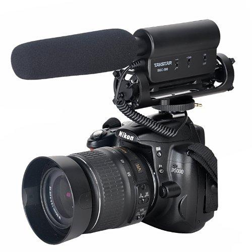Dazzne TAKSTAR SGC-598 Photography Interviews Microphone with Windscreen for Nikon Canon Camera Camcorder DSLR