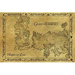 Game Of Thrones - Antique Map 61 x 91 cm Póster