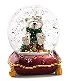 Nici 27665-Large Polar Bear Snow Globe, Red