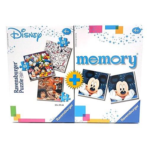 Ravensburger 91912 - Puzzle Memory Disney - 3 puzzle 49pz + 2 poster