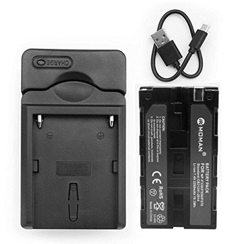 Moman NP-F550 Batteria e Caricabatterie per Videocamera Sony, Sostituibile NP-F330 NP-F530 NP-F570,...