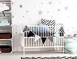 I-love-Wandtattoo WAS-10454 - Set de pegatinas de pared para habitación infantil, estrellas en colores pastel en grandes tonalidades azules y verdes, 25 unidades, estrellado para pegar, adhesivos de pared, pegatinas, decoración de la pared