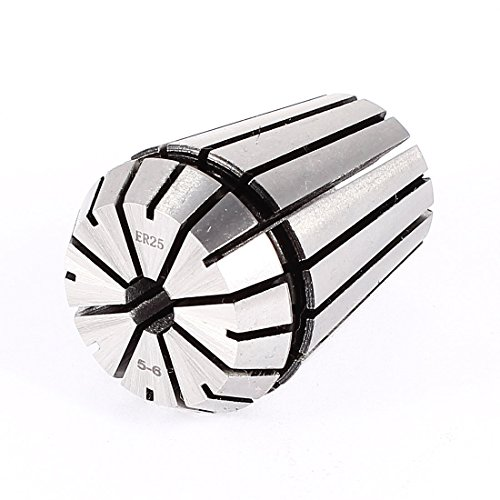 5-6mm Clamp Dia ER25 Stainless Steel Spring Collet CNC Milling Lathe