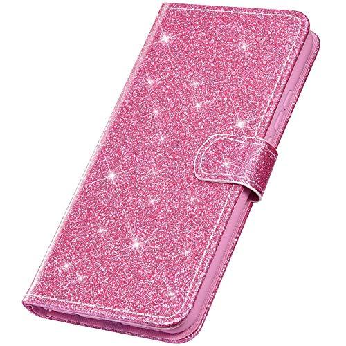SainCat Cover per Xiaomi Redmi Note 5A, Custodia Portafoglio Pelle con Brillantini Glitter Ultra...