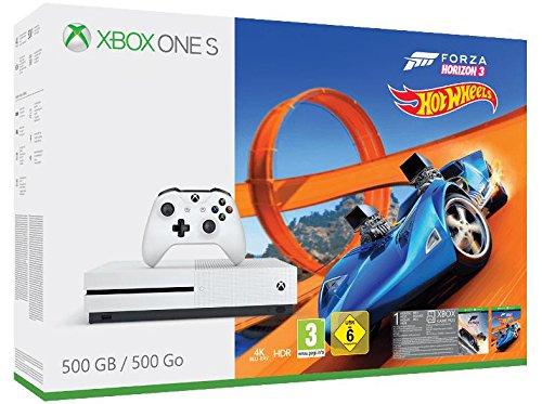 Xbox One S - Consola 500 GB + Forza Horizon 3 + Hot Wheels