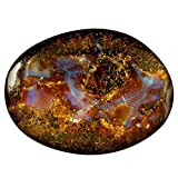 21.18 ct Fancy Shape (26 x 19 mm) Play of Colors Australian Koroit Boulder Opal Natural Loose Gemstone