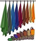 Fit-Flip Asciugamano Microfibra in Tutte Le Taglie / 12 Colori - Piccolo, Leggero e Super Assorbente - Asciugamano Palestra, Asciugamano Bagno, Asciugamani Grande Gym