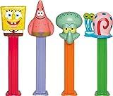 Spongebob Squarepants Pez distributeur avec deux REFILS (vendu à l'unité, un seul caractère FOURNI AU HASARD)
