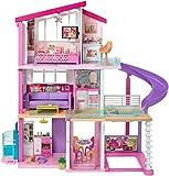 Barbie Casa dei Sogni per Bambole con 8 Stanze, Garage, Scivolo, Piscina, Ascensore e Accessori, per Bambini 3 + Anni, FHY73