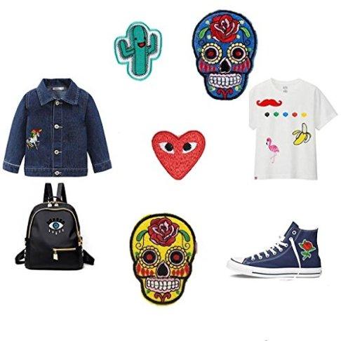Rxnon-Aufnher-Patches-Set-Niedlich-Aufnher-Bgelbild-Kleidung-Patches-Iron-on-Patch-fr-T-Shirt-Jeans-Taschen40-Stck