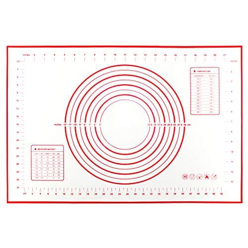 Tappetino da Forno in Silicone per Pasticceria (60 x 40 cm), Extra Grande Stuoia di Rolling Della...