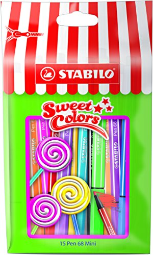 Stabilo 668/15-051 Pen 68 Mini Sweet Colors Penna, 15 Pezzi