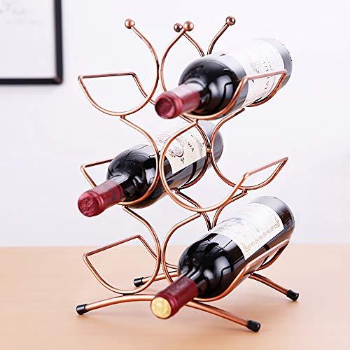 LXDDP Porta Vini per 6 Bottiglie - Creativo Multistrato Cucina Mini Bar Vino Rack di stoccaggio -...