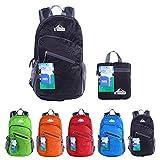 EGOGO Multifunzione 25L Zaino Trekking Pieghevole Peso Leggero Daypack Per Sportivo Outdoor Campeggio Alpinismo Arrampicata Viaggi S2212 (Nero)