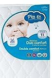 P'tit Lit - Matelas bébé Duo Confort - 60 x 120 x 12 cm - Anti-acariens -...