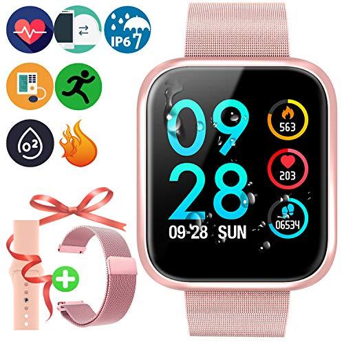 2019 nuovo braccialetto smart touch a colori HD con cardiofrequenzimetro e pressione sanguigna IP67...
