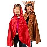 Lucy Locket - Disfraz reversible de caperucita roja y lobo (3-8 años)