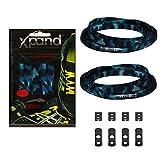 Xpand® lacets de chaussures-Pas-Noeud-lacets élastiques plats + Tension réglable-convient pour tous les types de chaussures (bleu Camo)
