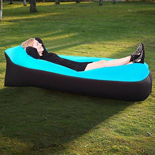 Tongfushop Aufblasbares Sofa Wasserdichtes Aufblasbares Liege Air Sofa, Aufblasbare Couch Tragbar Outdoor Sofa für Drinnen, Freizeit Reisen und Schwimmbad (01) - 2