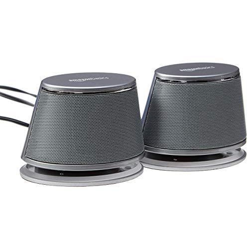 AmazonBasics - Altoparlanti per computer, alimentazione USB, con suono dinamico, Nero, confezione da...