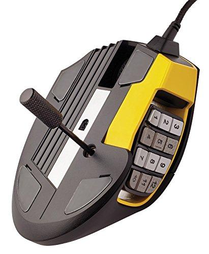 Corsair Gaming CH-9304011 Scimitar Pro Multi-Colour RGB Beleuchtung Performance 16000 DPI Optisch Gaming Maus, Schwarz/Gelb 28