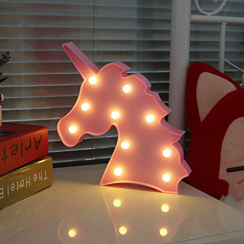 Unicorn LED luce notturna lampada bambini Marquee Letter luci a forma di unicorno segni Light Up...