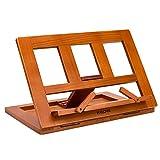 Halovie soporte para libro Tablet iPads Book Holder Atril de lectura ajustable y plegable de madera 34*23.5*2.8cm