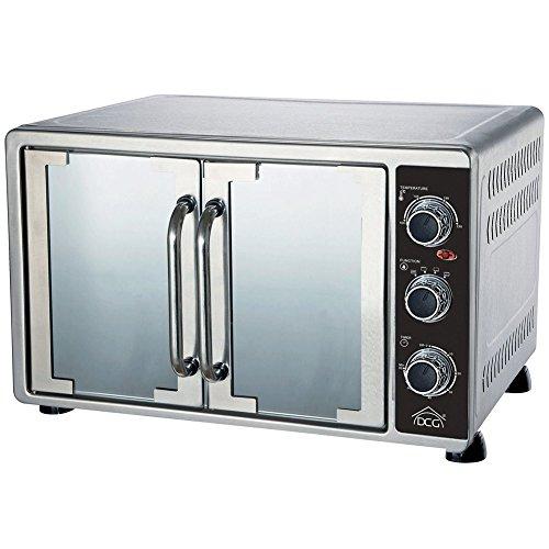 Forno Fornetto Elettrico Ventilato Doppia Porta Capacità 55 Litri Acciaio Inox Colore Silver...