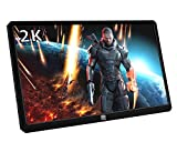 Magedok 13.3 Inch 2K Resolution Portable Gaming Monitor IPS Quad-HD 2560 * 1440 LCD Display with USB C/Hdmi Input,HDR,USB Powered,Ultra Slim Only 1CM,CNC Alu Shell,Built in Speakers