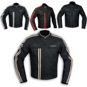 A-Pro Lederjacke Herren Biker Motorrad CE Protektoren Echtleder Thermic Custom 2
