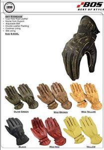 BOSmoto Motorrad Handschuhen Racing Kevlar gewachst Leder Handschuhe Wachs 7