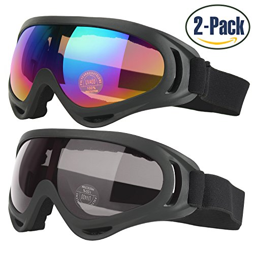 3ba0c22f42461c COOLOO Lunettes de ski, Lot de 2 Masques Snowboard de Protection ...