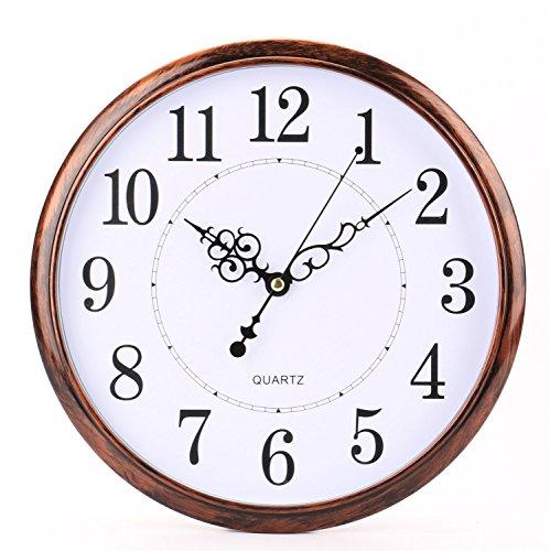 Tosnail 30 cm Orologio da Parete di Silenzioso Stile Vintage Decorazione a Muro