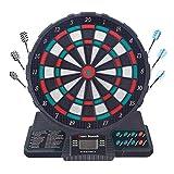 Oyria Automatische Scoring Electronic Dartboard Set, erinnert Sound Dart Tipps Spielzeug mit 6 Darts, Professionelle elektronische Hänge-Dartscheibe LCD Scoring Indicator Dart-Spiel