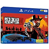 PlayStation 4 - Konsole( 1TB, schwarz, slim) inkl. Red Dead Redemption 2 + 2 DualShock Controller