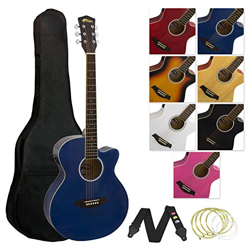 Tiger ACG4-BL - Set chitarra acustica amplificabile, colore: Blu